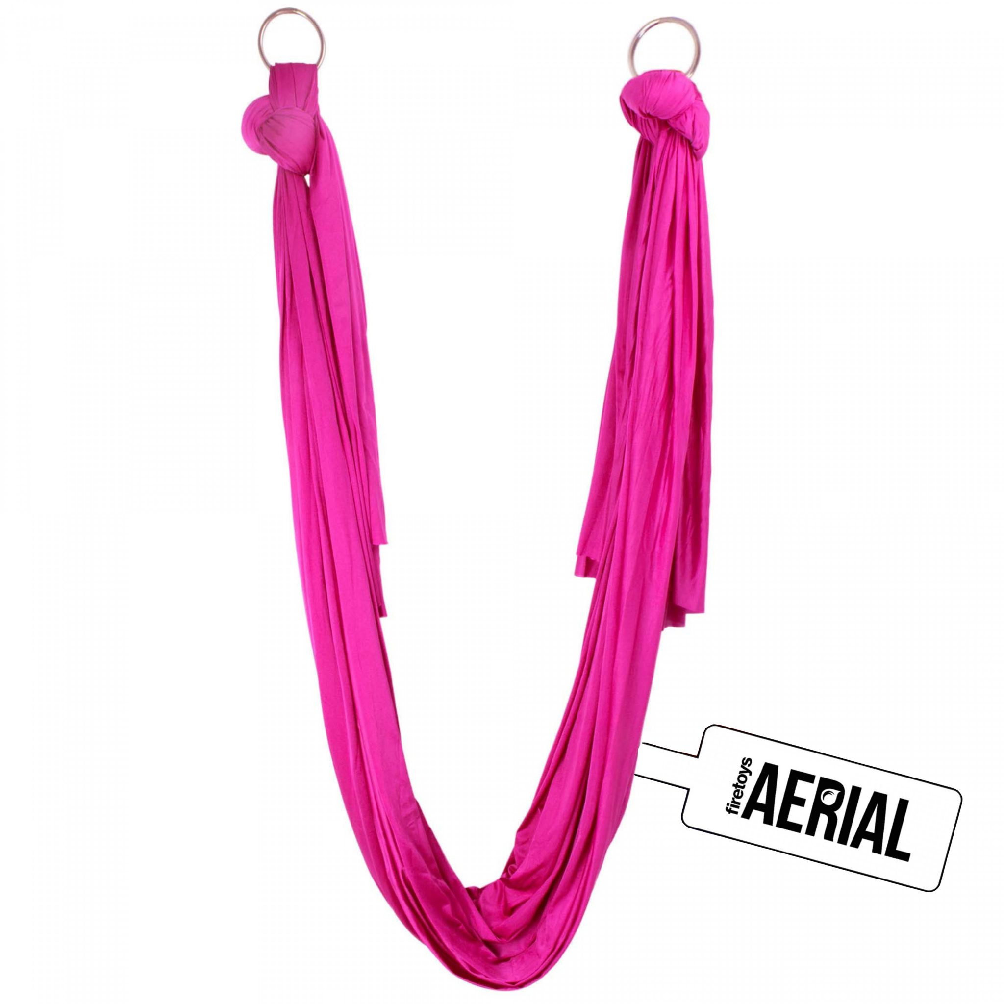 Firetoys Aerial Silk - Hot Pink-with-tag